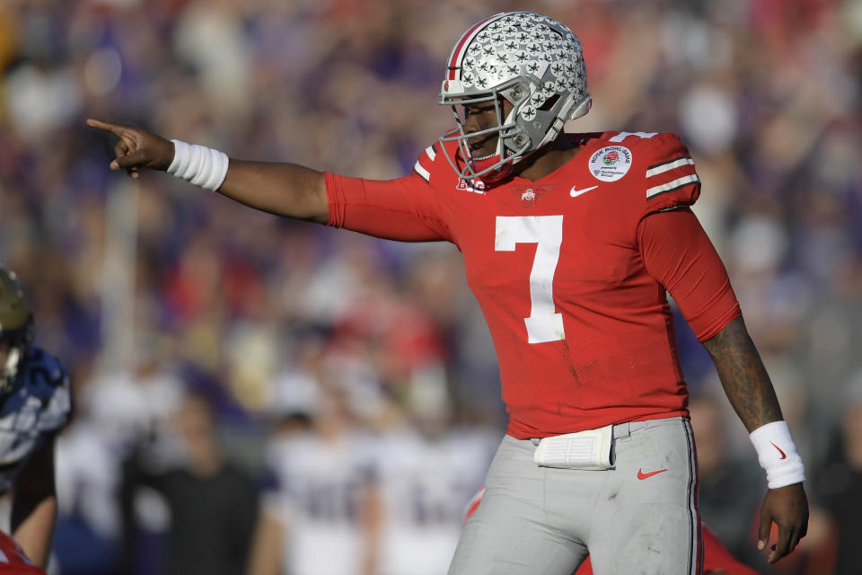 Ohio State's Dwayne Haskins is projecting to be the first quarterback selected in the 2019 NFL draft. (AP)