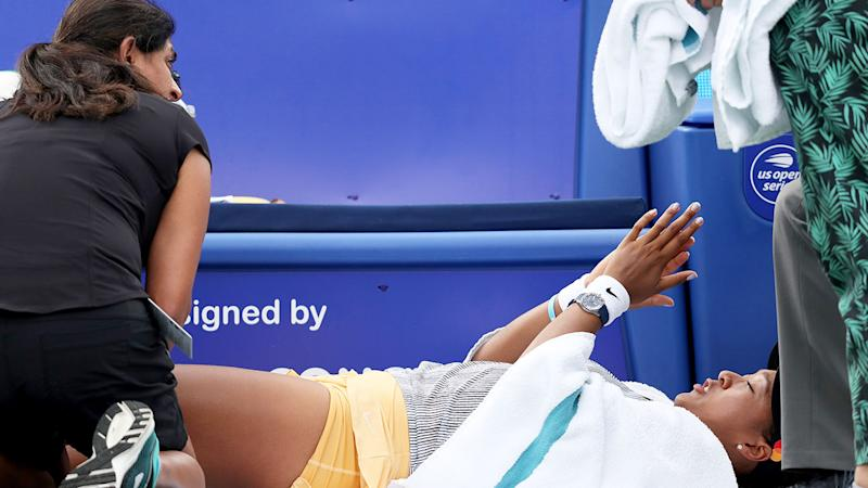 Naomi Osaka's injury is a concern ahead of the US Open.