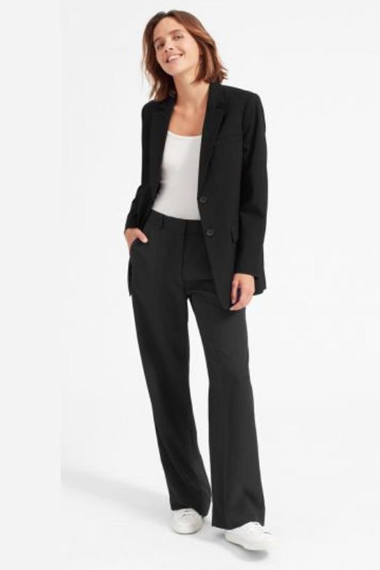 """<h2>The Oversized Blazer<br></h2><br>Oh, the irony — now that we're permanently OOO, the office-friendly <a href=""""https://www.refinery29.com/en-us/oversized-blazers-for-women"""" rel=""""nofollow noopener"""" target=""""_blank"""" data-ylk=""""slk:boxy workwear blazer"""" class=""""link rapid-noclick-resp"""">boxy workwear blazer</a> is more appealing than ever. With a little more edge than its fitted corporate counterpart, this suit component is shaping up to be a go-to fall piece. (When <a href=""""https://www.refinery29.com/en-us/2020/09/10048596/fall-pandemic-fashion-2020"""" rel=""""nofollow noopener"""" target=""""_blank"""" data-ylk=""""slk:layered over a lounge-y look"""" class=""""link rapid-noclick-resp"""">layered over a lounge-y look</a>, of course.)<br><br><strong>Everlane</strong> The Oversized Blazer, $, available at <a href=""""https://go.skimresources.com/?id=30283X879131&url=https%3A%2F%2Fwww.everlane.com%2Fproducts%2Fwomens-oversized-blazer-black"""" rel=""""nofollow noopener"""" target=""""_blank"""" data-ylk=""""slk:Everlane"""" class=""""link rapid-noclick-resp"""">Everlane</a>"""