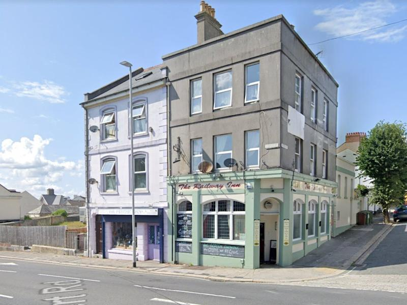 The incident happened outside the Railway Inn in Plymouth (Google Streetview)