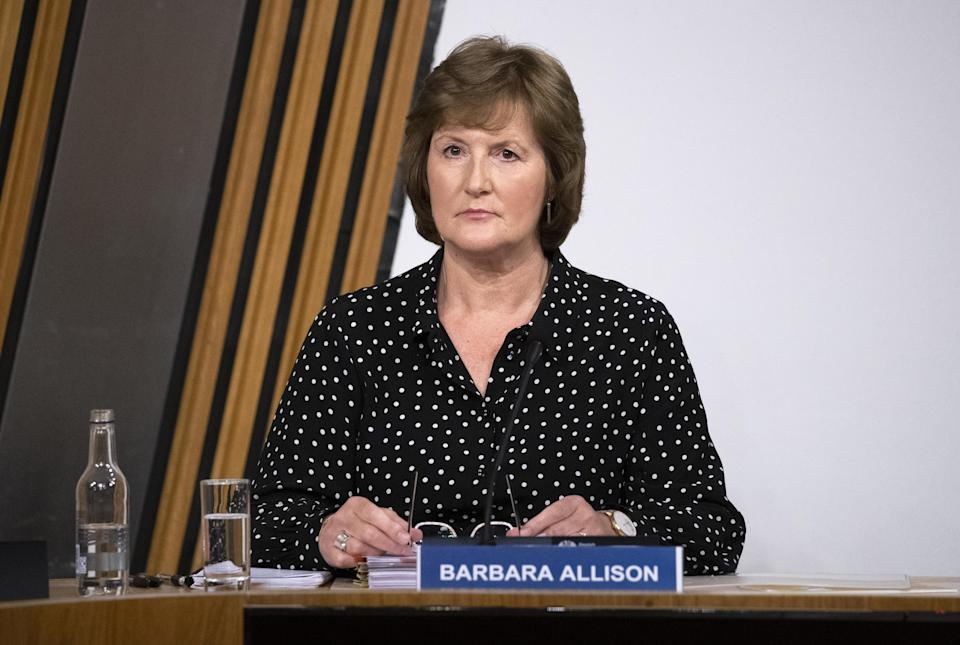 Barbara Allison received the text message from Permanent Secretary Leslie Evans (Jane Barlow/PA)