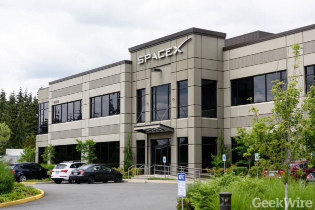 SpaceX's Redmond office is the center for its satellite operations. (GeekWire Photo / Kevin Lisota)