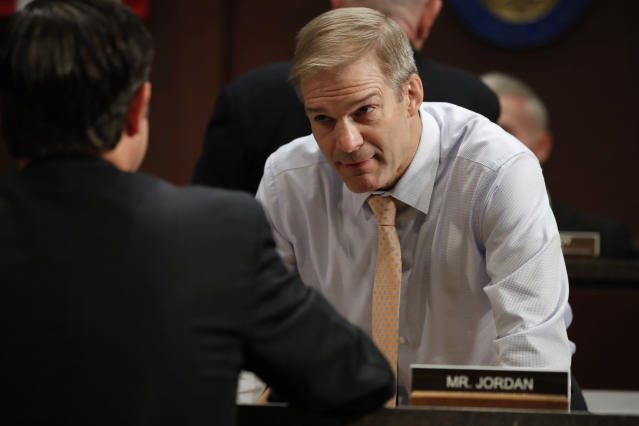Jim Jordan has been accused by several Ohio State wrestlers of knowing about sexual abuse perpetuated by team doctor Richard Strauss. (AP Photo)