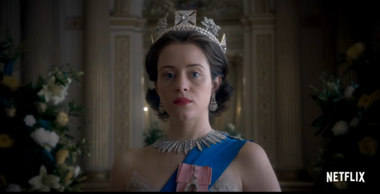 Claire Foy as Queen Elizabeth I in The Crown