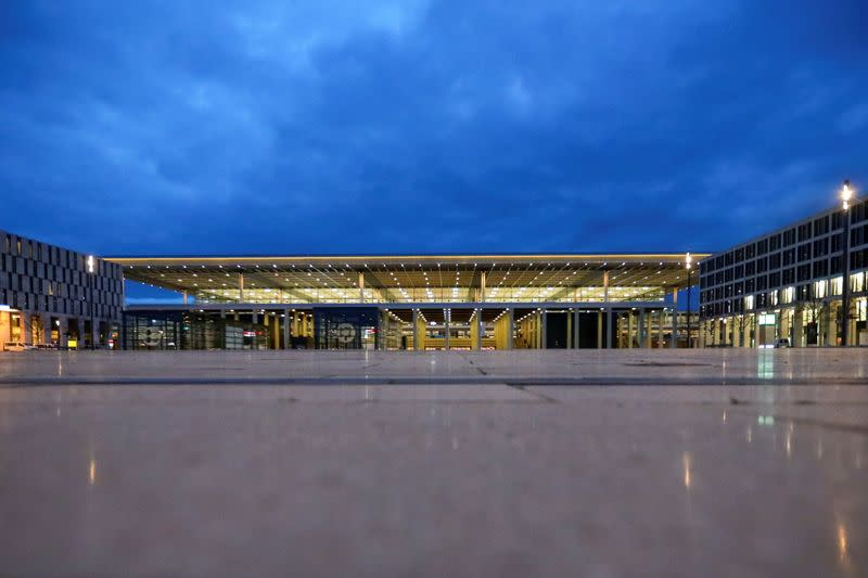 A general view of the new Berlin-Brandenburg Airport's buiding in Schoenefeld