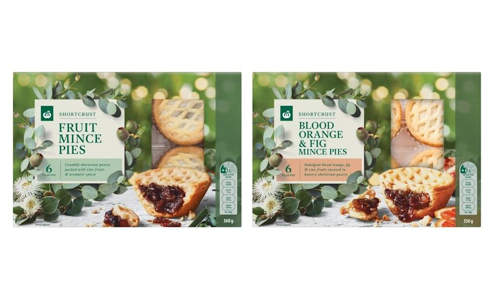 Woolworths Fruit Mince Pies. Source: Supplied.