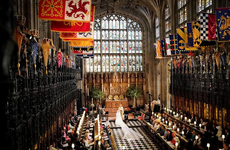 The interior of St. George's Chapel.
