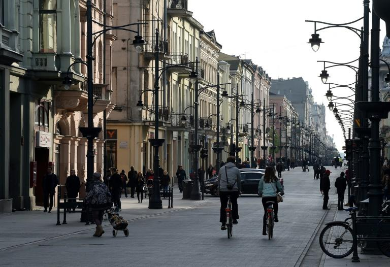 The downtown area of the Polish city of Lodz, where a citizens' group united by  desire to take on the policies of the governing conservative Law and Justice (PiS) September 9, 2018, is seen in 2017