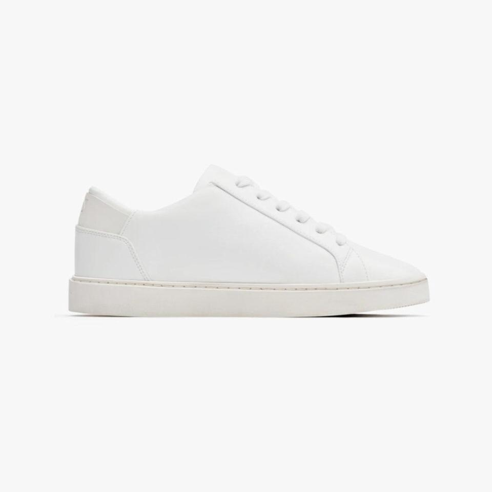 """Thousand Fell's sitewide 20% off will be applied at checkout through Monday, May 31. $120, THOUSAND FELL. <a href=""""https://www.thousandfell.com/collections/lace-up/products/womens-lace-up-sneaker-white"""" rel=""""nofollow noopener"""" target=""""_blank"""" data-ylk=""""slk:Get it now!"""" class=""""link rapid-noclick-resp"""">Get it now!</a>"""
