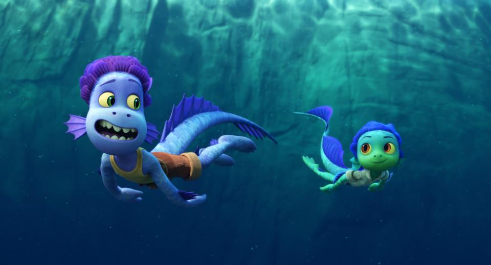 """""""Luca"""" sea monsters Alberto and Luca (voiced by Jack Dylan Grazer and Jacob Tremblay) are fascinated with all things human, and venture to an Italian seaside town."""