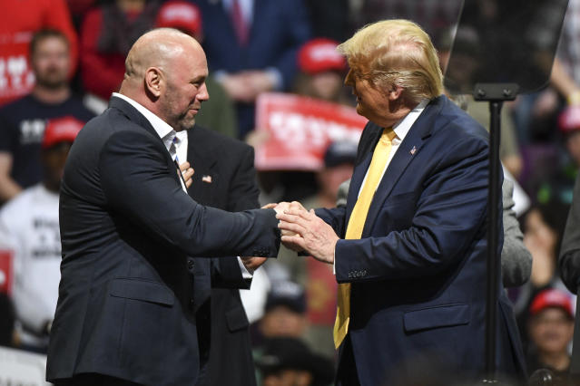 Donald Trump and Dana White have long seen eye to eye. (Photo by Michael Ciaglo/Getty Images)