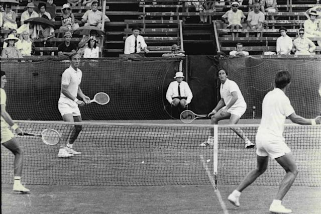 """<span class=""""element-image__caption"""">The early days of the Australian Open bore little resemblance to the modern-day incarnation of the tournament.</span> <span class=""""element-image__credit"""">Photograph: Victor Colin Sumner/Fairfax Media via Getty Images</span>"""