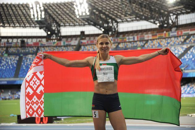 Tokyo Olympic athlete Krystsina Tsimanouskaya of Belarus during the Women's 200m Final at the 2019 Summer Universiade in Naples, Italy. (Photo: Ivan Romano via Getty Images)