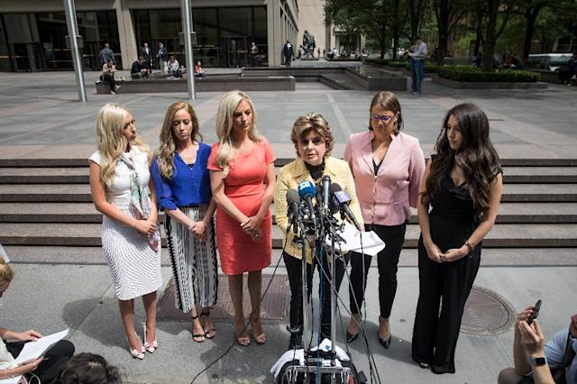 """""""Women deserve respect and should be paid for the worth they provide,"""" said rights activist and lawyer Gloria Allred, who is representing five former NFL cheerleaders suing the Houston Texans (AFP Photo/Drew Angerer)"""