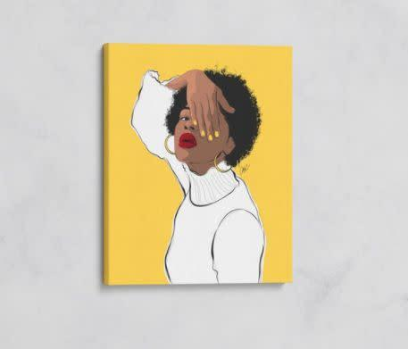 """This South Carolina-based Etsy shop sells a selection of vibrant illustrations. Shop this <a href=""""https://fave.co/3hhmGZh"""" rel=""""nofollow noopener"""" target=""""_blank"""" data-ylk=""""slk:yellow black girl melanin fashion illustration for $90"""" class=""""link rapid-noclick-resp"""">yellow black girl melanin fashion illustration for $90</a> at <a href=""""https://fave.co/2MLNTW3"""" rel=""""nofollow noopener"""" target=""""_blank"""" data-ylk=""""slk:CathyC Illustrations on Etsy"""" class=""""link rapid-noclick-resp"""">CathyC Illustrations on Etsy</a>."""