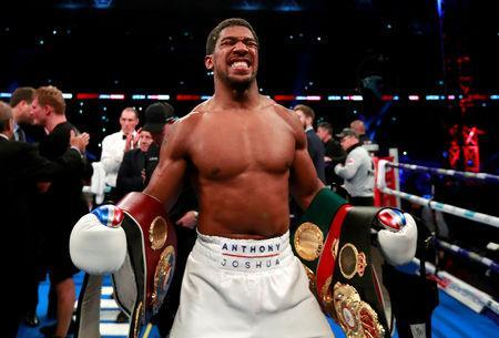 File Picture: September 22, 2018 Anthony Joshua celebrates his win against Alexander Povetkin Action Images via Reuters/Andrew Couldridge