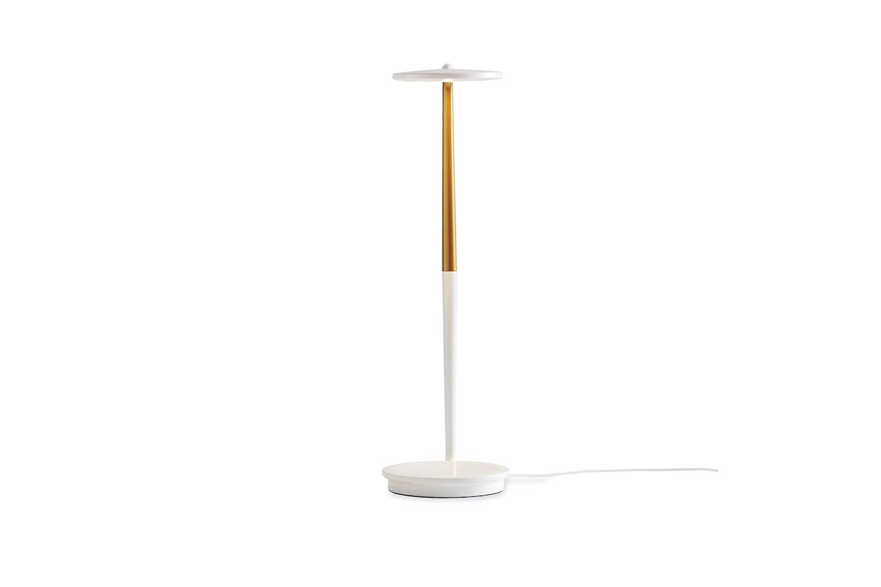 "$260, Design Within Reach. <a href=""https://www.dwr.com/lighting-table-task/pixo-optical-led-table-lamp/1554.html"">Get it now!</a>"