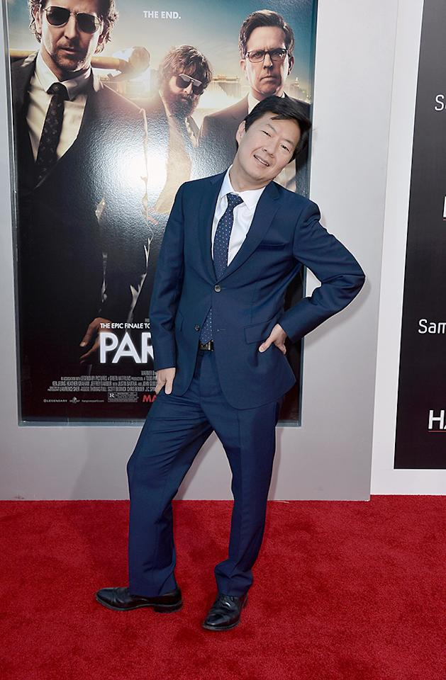 "WESTWOOD, CA - MAY 20:  Actor Ken Jeong attends the premiere of Warner Bros. Pictures' ""Hangover Part 3"" at Westwood Village Theater on May 20, 2013 in Westwood, California.  (Photo by Frazer Harrison/Getty Images)"