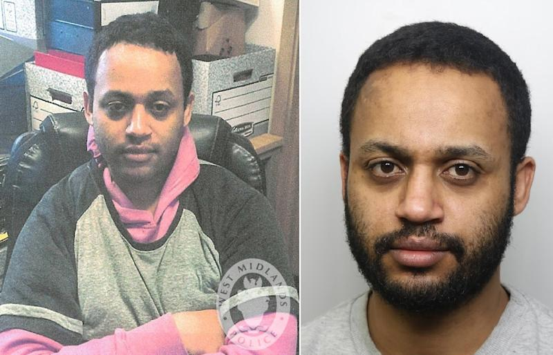 Temesgen Desta was jailed for life for .... (Pictures: West Midlands Police)