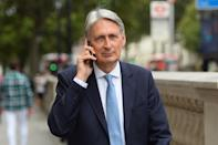 Former chancellor Philip Hammond in Whitehall, Westminster, London as Prime Minister Boris Johnson will temporarily close down the Commons from the second week of September until October 14 when there will be a Queen's Speech to open a new session of Parliament.