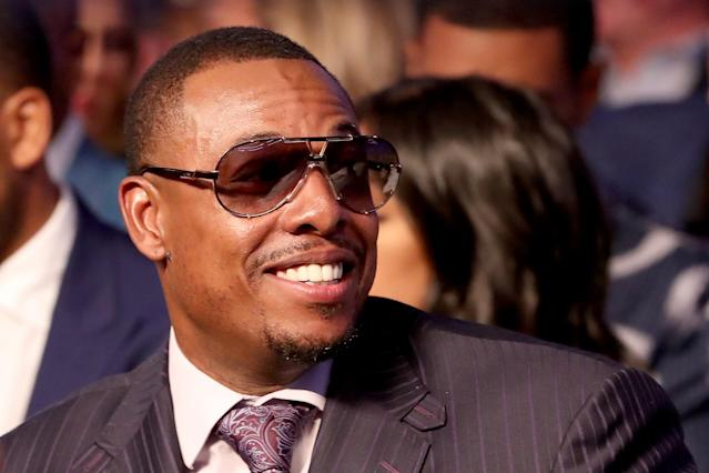 <p>Former NBA player Paul Pierce attends the super welterweight boxing match between Floyd Mayweather Jr. and Conor McGregor on August 26, 2017 at T-Mobile Arena in Las Vegas, Nevada. (Photo by Christian Petersen/Getty Images) </p>