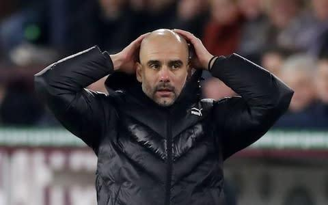 <span>Pep Guardiola knows his City side cannot afford to slip up this evening against their arch rivals </span> <span>Credit: Action Images </span>