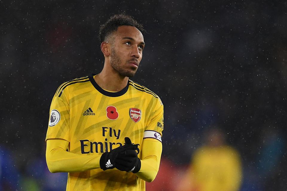 <p>Captain Pierre-Emerick Aubameyang spent six hours at a Gambian airport before playing 90 minutes for Gabon</p>AFP via Getty Images