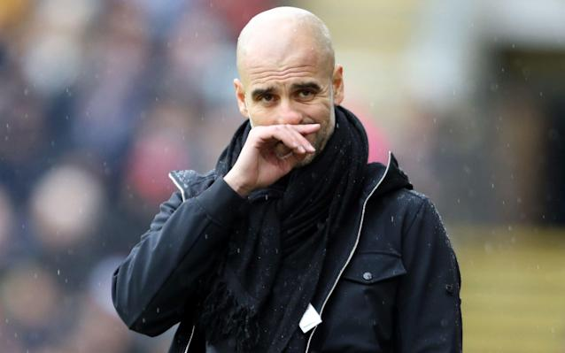 "The message from Pep Guardiola was unequivocal: I will be judged on trophies. The Manchester City manager had suggested at the end of his first season at the club that the style of his team was more important to him than the substance of silverware but, ahead of Sunday's Carabao Cup final against Arsenal, he was emphatic. It is the winning that matters. ""We have to lift titles to give more value to what we have done,"" Guardiola said. ""When we started [the season], we said the same – that we would be judged on how many titles we win, in the big clubs, in the five or six contenders, it's always the same: 'How many titles do you win?' ""We don't expect to win titles to be happier but, of course, we'll be judged on this and for the club it is so important because it is a club that, every year, needs to grow and win titles and, hopefully, after the day after tomorrow, we'll have the first one."" The first one for any manager at a club matters more than most – even if it is the League Cup, the least important of the important prizes. That first trophy was something Jose Mourinho stressed to his players when he first became Chelsea manager in 2005 and made such a push for the competition and won it. Mourinho did it again last season with Manchester United. It breeds that winning mentality to bring greater trophies and, although Guardiola knows City have already all but won a far more valuable title – the Premier League, where they hold a 16-point lead – this is a huge Wembley occasion, against a big opponent and, intriguingly, comes less than a week after his side were knocked out of the FA Cup by Wigan Athletic, which ended hopes of a quadruple. City were dumped out of the FA Cup by Will Grigg and Wigan Athletic earlier this week Credit: AFP That FA Cup exit hurt Guardiola, who suggested he would rather have lost league matches than the tie, and he knows that should City not triumph at Wembley, it would raise serious questions over their lasting power in a season when they have played extraordinary football. ""In the finals, of course, it's winning,"" Guardiola said, urging his players to have no ""regrets"". ""But after that it is how you win. Finals are [about penalty] boxes. It's how clinical you are in front [of goal], how tough. Finals are different – it's not what you have done in the past."" The Spaniard has a hugely impressive record in cup finals, having won nine of the 10 he has contested – excluding super cups – with the only defeat being the 2011 Copa del Rey, when Barcelona were defeated by Mourinho's Real Madrid in extra time. Guardiola also lost the German Super Cup to Borussia Dortmund, soon after taking over at Bayern Munich in 2013. The effect such defeats have on him, even on a lesser occasion, was chronicled by author Marti Perarnau in his book, Pep Confidential. ""For the club, it is nothing more than an insignificant slip-up – the Super Cup is considered unimportant in Germany,"" Perarnau wrote. ""However, the coach feels deeply wounded."" In the bigger picture, the League Cup still represents the first leg of a treble, along with the Premier League and with City pretty much guaranteed a place in the last eight of the Champions League. A treble would only be the third of its kind ever achieved in English football: after Manchester United's Champions League, Premier League and FA Cup success in 1998-99, and Liverpool's league, European Cup and League Cup triumph in 1983-84. Guardiola, though, is keen to play down any talk of that and sensed the potential for headlines that might come back to haunt. The 47-year-old was even more wary of engaging with claims that if City won, it could herald an era of dominance. Despite that, it would fuel the sense that he is tightening his grip. ""No,"" Guardiola said. ""The same thing was asked to me in the beginning of the season. Did we expect to fight until three days ago in four competitions? I said no. Not even in Barcelona when we won the first title in the cup [Copa del Rey in 2009] did I expect to win 14 titles in four years. I didn't expect that. I'm more pragmatic than that. Don't dream too much. ""In football, it's a big mistake to think what might happen in the next three years. It's a big mistake for our heads, our targets, our focus – it makes no sense. When people asked in the beginning, about winning four titles, I said 'of course we are going to try, but the big teams have not been able to do that – the big Liverpools, the big Uniteds, the big Arsenals or Chelsea. So, why should I think we can do it?' We have a final and we try to do what we have done, who we are, and after we will see. The genius of Pep Guardiola: Eight things he has done to make Man City so frighteningly good ""Then, after in the Premier League, we have six games to be champions in the most prestigious tournament in this country and will try to achieve it. Then we'll see next year. Then at the end of our time together [his current three-year contract expires then] we will analyse and see what we have done."" A late fitness call will be made on Raheem Sterling. ""He had a problem with muscle, he had a problem against Basel [in the Champions League]. I don't know if he's ready for Sunday,"" Guardiola said while suggesting that Leroy Sane was still to regain full fitness after his injury lay-off and that Gabriel Jesus was unlikely to be risked. Guardiola has to decide whether to go with Oleksandr Zinchenko at left-back, with Fabian Delph beginning the first game of his three-match ban after his Wigan red card. Managers with a clean sweep of domestic trophies and those who miss out The manager did confirm that Claudio Bravo, who has played in all the previous rounds, would continue in goal. ""He [Bravo] deserves to play in the final and he's going to play,"" Guardiola said. ""The locker room is sometimes more important in the finals – without him we would not be here, he's going to play."""