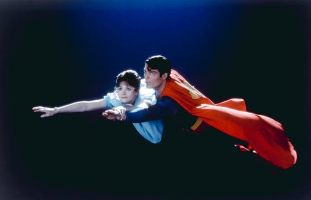 """<p>Kidder portrayed Lois Lane to Christopher Reeve's Superman in four films, released between 1978 and 1987. """"It was exciting, but for a while being typecast as Lois made my vanity and narcissism scream,"""" Kidder told <a href=""""https://www.theguardian.com/film/2005/apr/09/culture.features"""" rel=""""nofollow noopener"""" target=""""_blank"""" data-ylk=""""slk:the Guardian"""" class=""""link rapid-noclick-resp""""><i>the Guardian</i></a> in April 2005. """"Hadn't people seen my other work? But now my grandkids watch it, and think I was Superman's friend, so that's a thrill."""" (Photo: Warner Bros./courtesy of Everett Collection) </p>"""