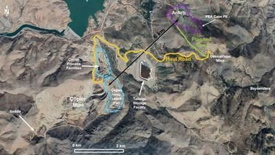 Figure 1: Location map of the Ardich Gold Project. The haul road constructed for the Çakmaktepe oxide ore is 1.5km to Ardich. (CNW Group/SSR Mining Inc.)