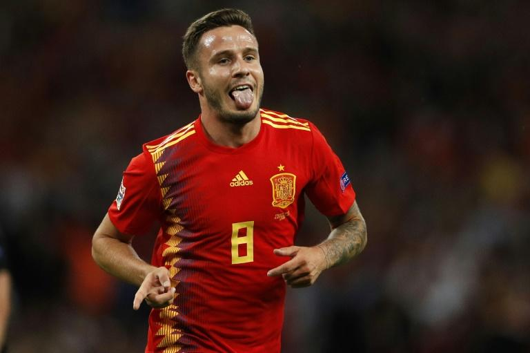 Saul Niguez scored his first international goal at Wembley