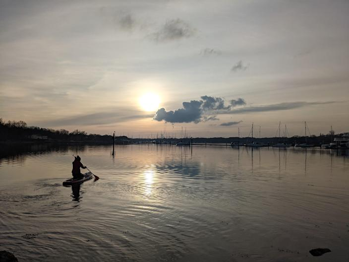 Paddleboarding is the perfect ice breaker as strangers talk to you when you prep to SUPVictoria Philpot