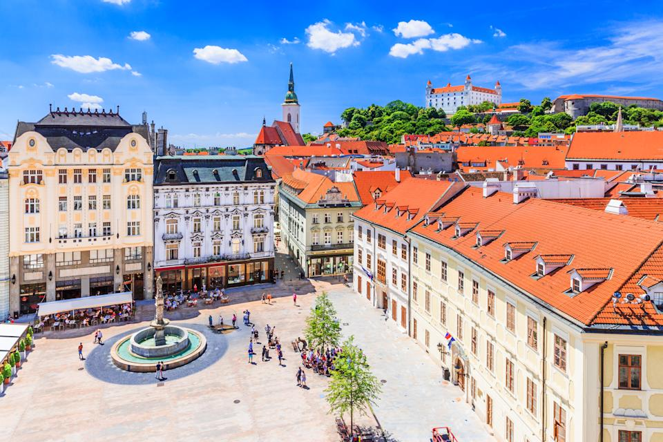 Bratislava, the capital of Slovakia, topped the list, with a 71% drop in average flight prices compared to last year: from £493.27 to £141.23. The destination is celebrated for its pedestrian-only, 18th-century old town, plus its alcohol offering of locally-brewed beer and homegrown wine. Skyscanner recommends visited a bar called Mark Twain, which is housed on an older river boat. Median flight price: £141.23. Percentage price change: -71%. <em>[Photo: Getty]</em>