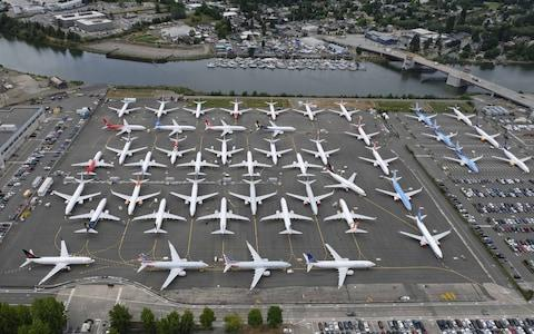 Boeing is continuing to build the aircraft - but running out of space to store them - Credit: getty