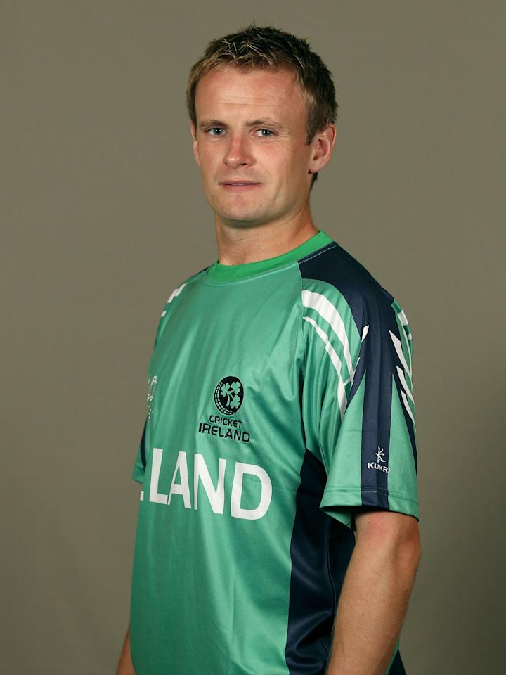 GEORGETOWN, GUYANA - APRIL 26:  William Porterfield of Ireland poses during a portrait session ahead of the ICC T20 World Cup at the Pegasus Hotel on April 26, 2010 in Georgetown, Guyana.  (Photo by Clive Rose/Getty Images)