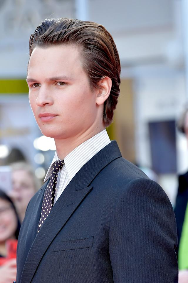 Ansel Elgort is single-handedly bringing back mousse.