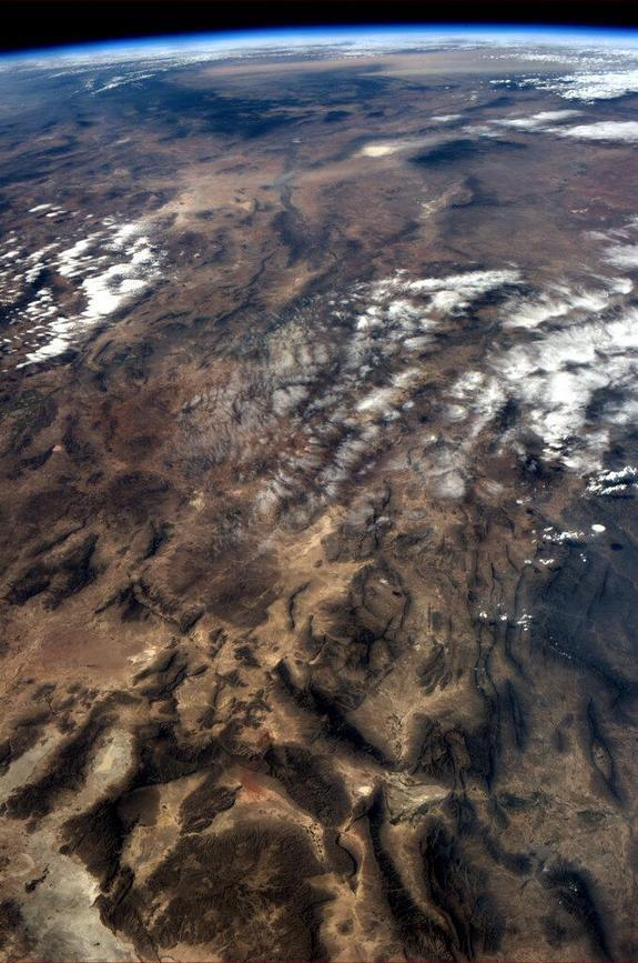 Chris Hadfield loves taking photos of the Earth and this one of a mountain range is no exception. Taken on April 22, 2013.