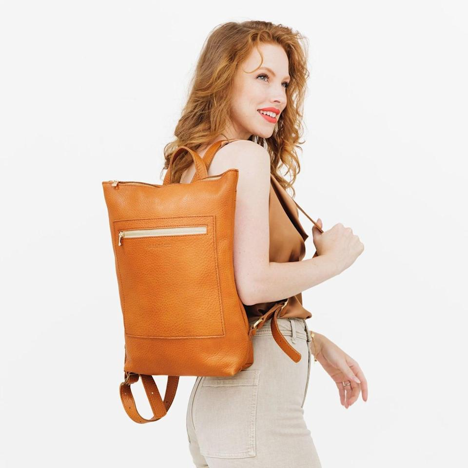 """<p>""""In this work-from-home climate, I've found myself venturing to coffee shops and parks to get out of the house, but I hadn't found a stylish, quality bag that holds my things until I came across this <span>Portland Leather Laptop Backpack</span> ($179, originally $340). It is stylish and can hold a 13-inch MacBook without a problem. The front-zip pocket is where I stash my charger and AirPods, and its interior securely keeps my laptop, wallet, and keys safe. I like it so much that I use it as a regular day-to-day purse. It also makes for a great gift for your corporate friends, or even yourself if you feel like splurging."""" - HL</p>"""