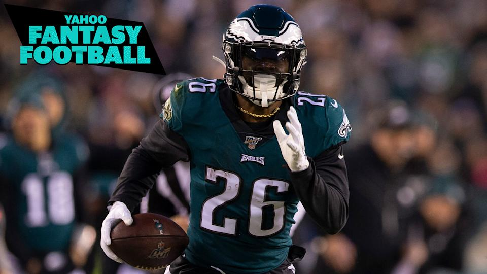 Philadelphia Eagles running back Miles Sanders. (Photo by Mitchell Leff/Getty Images)