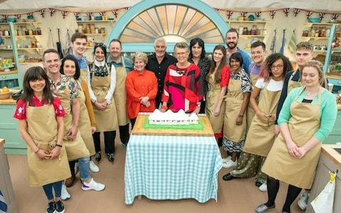 The class of Bake Off 2019 enter the tent - Credit: C4/Love Productions/Mark Bourdil