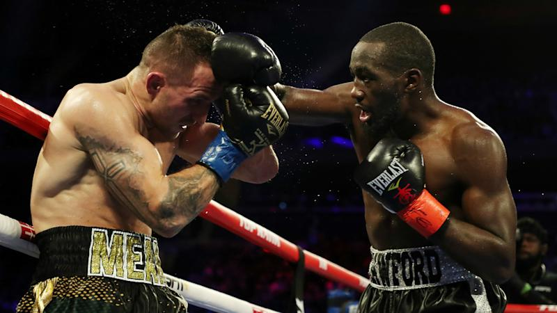 Crawford defends WBO title with ninth-round TKO against Kavaliauskas