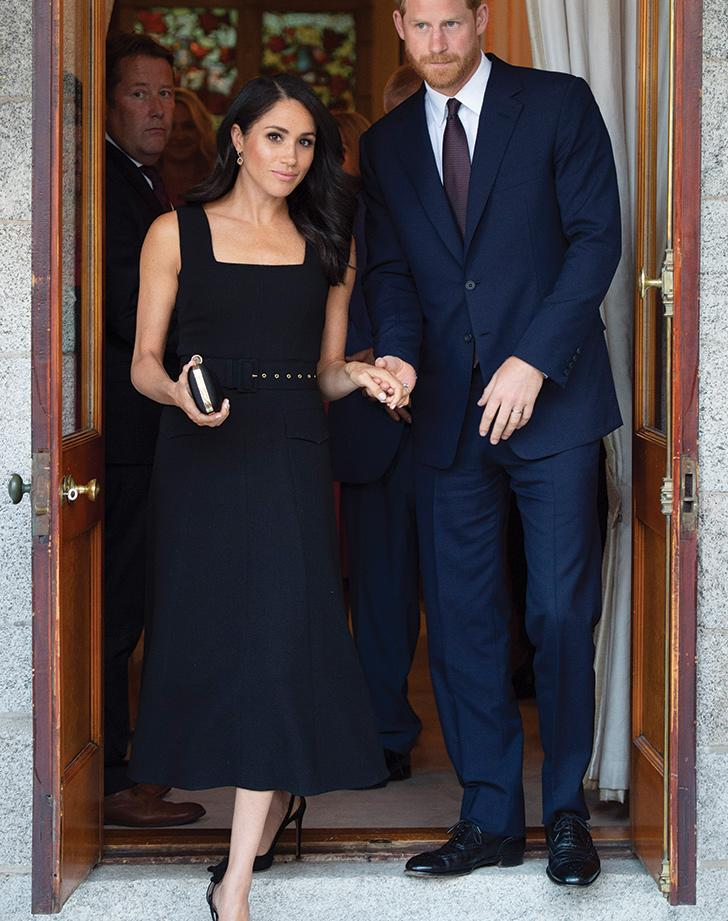ed99700f37 Meghan Markle Wore the Perfect LBD to a Garden Party