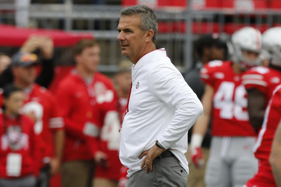 Ohio State has a lot of work to do to get to the College Football Playoff. (AP Photo/Jay LaPrete, FIle)