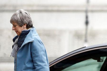 Britain's Prime MinisterTheresaMayis seen outside Downing Street in London