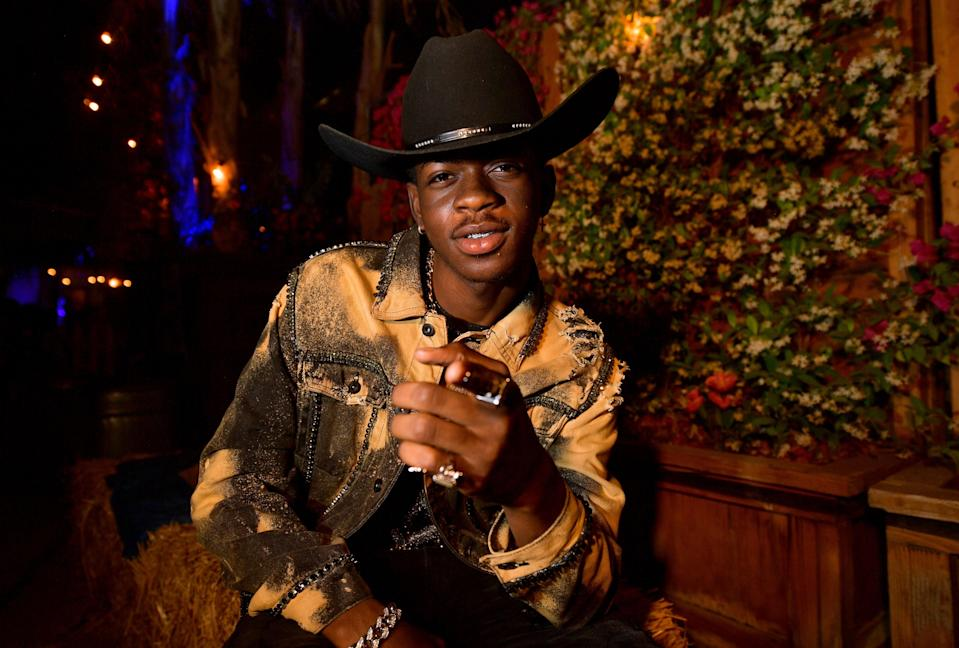 "Following the massive success of ""Old Town Road,"" Lil Nas X came out as gay via Twitter in June 2019. ""Some of y'all already know, some of y'all don't care, some of y'all not gone fwm no more. but before this month ends i want y'all to listen closely to c7osure,"" <a href=""https://twitter.com/LilNasX/status/1145428812404068352"" rel=""nofollow noopener"" target=""_blank"" data-ylk=""slk:he wrote,"" class=""link rapid-noclick-resp"">he wrote,</a> adding he ""deadass"" thought <a href=""https://twitter.com/LilNasX/status/1145470707150860289"" rel=""nofollow noopener"" target=""_blank"" data-ylk=""slk:he made his sexuality ""obvious."""" class=""link rapid-noclick-resp"">he made his sexuality ""obvious.""</a>"