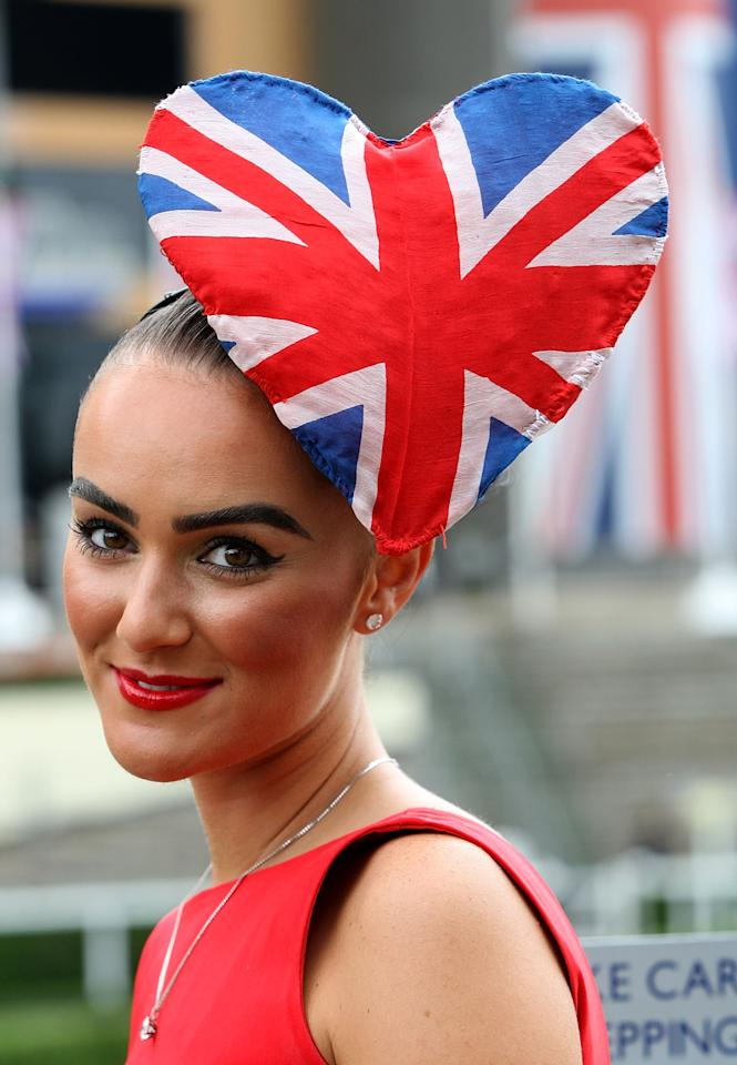 ASCOT, ENGLAND - JUNE 21:  A racegoer attends Ladies Day during Royal Ascot at Ascot Racecourse on June 21, 2012 in Ascot, England.  (Photo by Danny Martindale/Getty Images)
