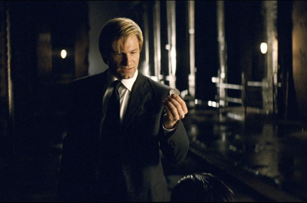 "<a href=""http://movies.yahoo.com/movie/contributor/1800022565"">Aaron Eckhart</a> as Harvey Dent in Warner Bros. Pictures' <a href=""http://movies.yahoo.com/movie/1809271891/info"">The Dark Knight</a> - 2008"