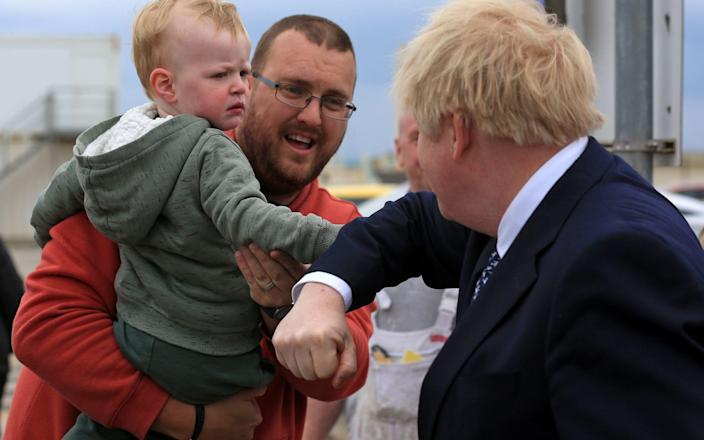 Boris Johnson brought some of his star power to Hartlepool yesterday - PA