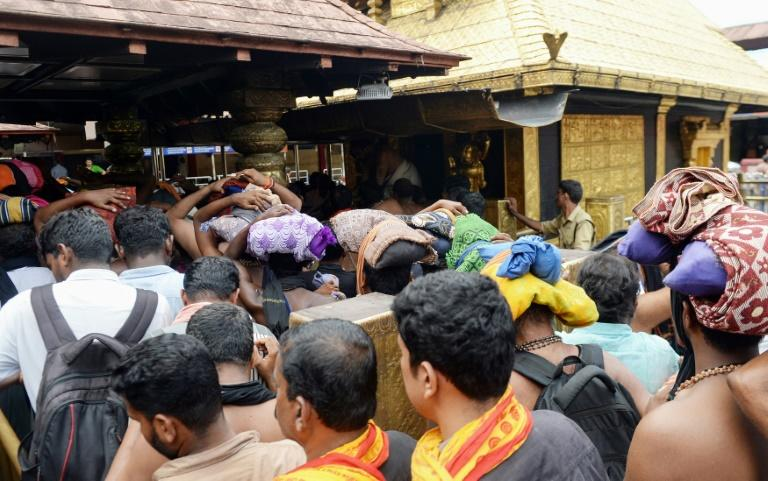 Despite the Supreme Court's order to allow them in, none of the few women present at the temple on Thursday were between 10 and 50 years old