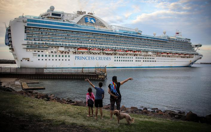 The Ruby Princess cruise ship set to depart Wollongong, Australia back in April - James D. Morgan/Getty Images AsiaPac